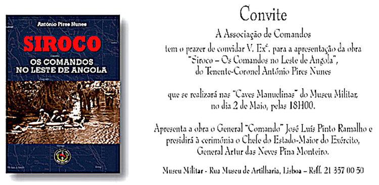 Livros  «Siroco - Os Comandos no Leste de Angola» - autor  António ... 60427840c36